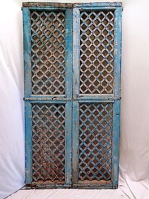 ! antique very rare wooden hand crafted mughal jali temple door real Indian art