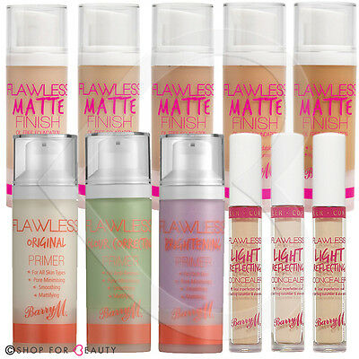 Barry M Flawless Face Primers Original, Colour Correcting & Brightening Make Up