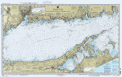 1995 Nautical Map of Long Island Sound Eastern Part New York