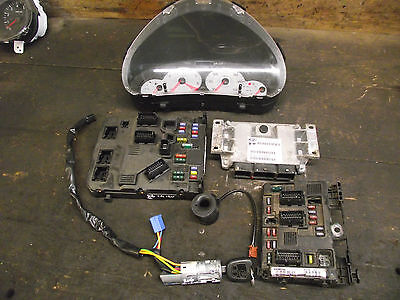 Peugeot 206 '55 1.4 16v engine control unit ECU Kit Set 9657429680 Inc VAT