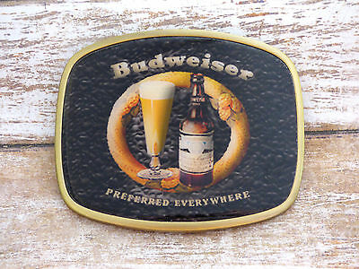 Budweiser Retro Advertising Vintage Belt Buckle