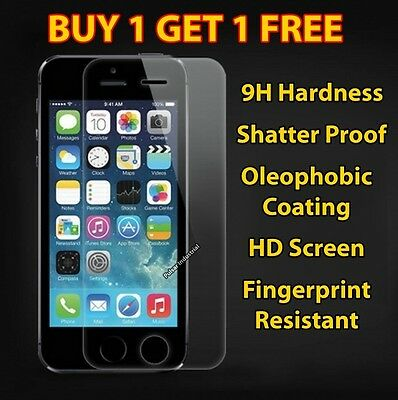 Real Tempered Glass Film Screen Protector For Apple Iphone 5C 5S 5Se Protection