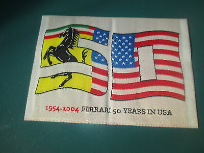 FERRARI 1954-2004  50 years in the USA Embroidered Patch 430 California 599 458