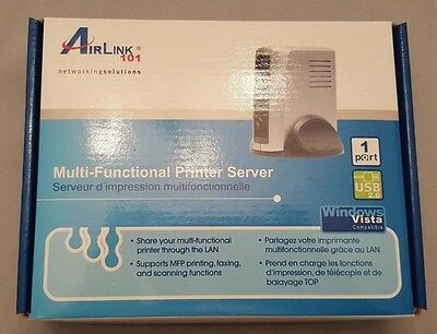 Airlink 101 AMPS230 1 Port Wireless Multi-Functional Printer Server ~ New in Box