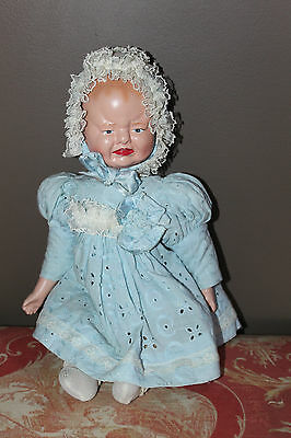 "Primitive Two Face 16"" Composition Doll"
