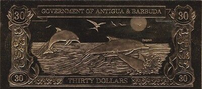 Antigua & Barbuda : 30 Dollars 1983 Dauphins - Commemo. Pour Collectionneurs