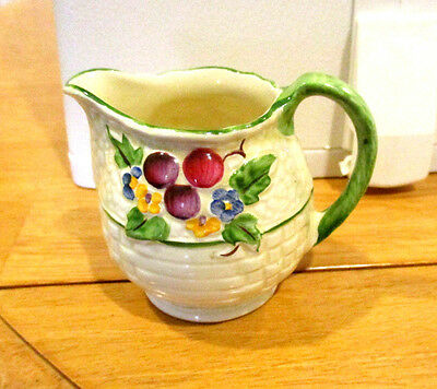 Vintage Crown Devon, Hand Painted Mini Creamer Decorated With Flowers
