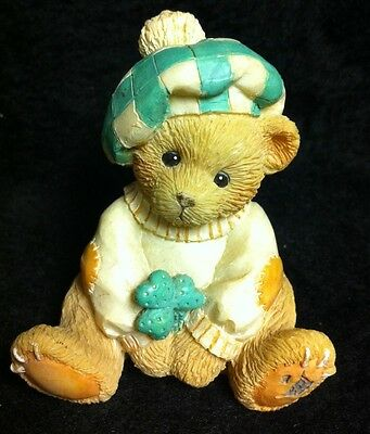Vintage 1993 Cherished Teddie SEAN #916439 great for St. Patrick's Day