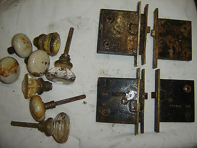 Corbin Antique Mortise Locks and some vintage Knobs