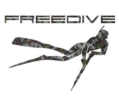 Camouflage spearfishing sticker spear fishing wetsuit freediving speargun decals