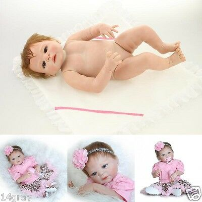 "Bambole Reborn 23"" Full Body Silicone Baby Doll Girl Lifelike Kids Gift Toy"