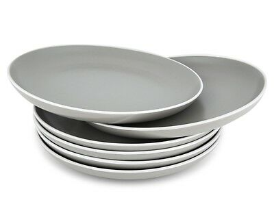 Cooper & Co. Pasco Side Plate 6-Pack Grey Set 20CM 27CM Home Dinning