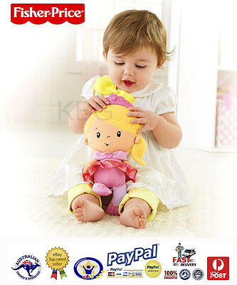 AUS QLT Baby Girls Fisher Price Princess Chime Doll Play & Learn Interactive Toy
