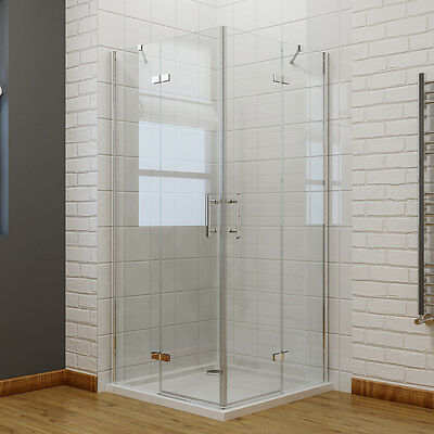 Pivot Frameless Corner Entry Shower Enclosure and Tray Cubicle Glass Door