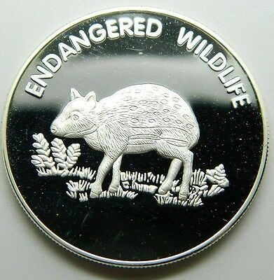 Malawi 10 Kwacha 2005 Silver Plated Proof  Endangered Wildlife