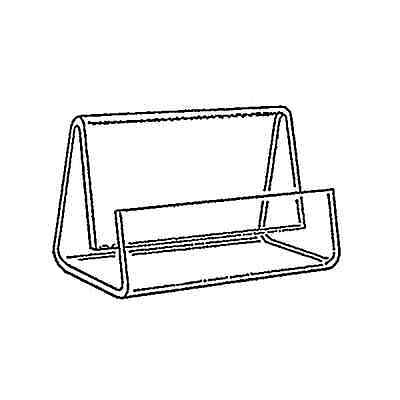 Box Of 6 Single Compartment Business Card Holder Clear Acrylic Dispenser