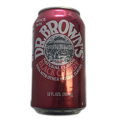 Pack of 12 Cans of Dr Brown's Black Cherry Soda 12fl oz (355ml)