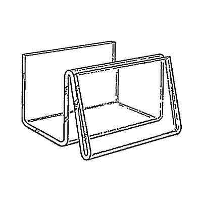 Box Of 6 Single Compartment Business Card Holder Transparent Acrylic Dispenser