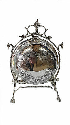 Victorian Style Silver Plate Biscuit Box ~ Candy Box~  Container