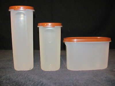 Vintage Brown Top Canisters Set of 3