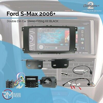 CTKFD24 Ford S-Max 2006 on Complete Double Din Stereo Fitting Kit BLACK