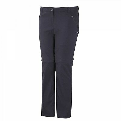 Craghoppers Ladies Womens Kiwi Pro Convertible Trousers in Dark Navy 18 REGULAR