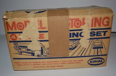 Vintage Aurora Model Motoring Ho Scale 4-Lane Racing Set No. 1505