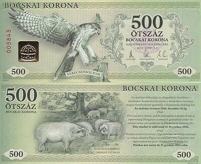 Hungary / Bocskai - 500 Korona 2012 local money UNC Lemberg-Zp
