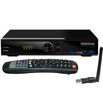 Deutsche TV Full HDTV Sat-Receiver Medialink ML6200S USB LAN WLAN Stream SAT Box