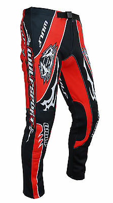 Wulfsport adult force ten red trials pants size small motocross motorbike MX