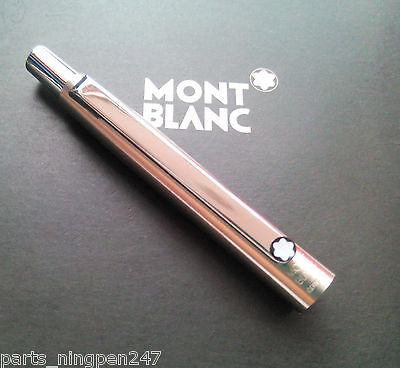 1X Montblanc Slim Line Ballpoint No.2932 Stainless Steel Cap Part Pen NOS