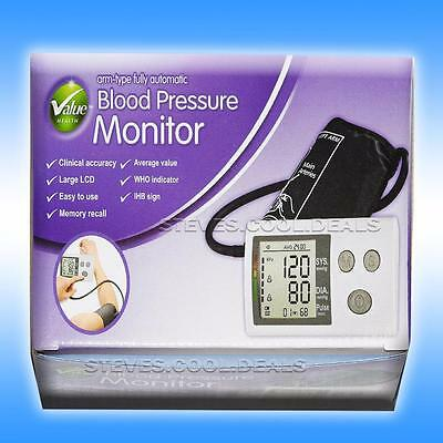 Blood Pressure Monitor & Pulse, Fully Automatic Accurate Upper Arm Clear Display