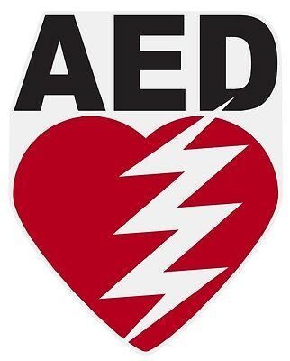 AED Small Reflective Decal Sticker