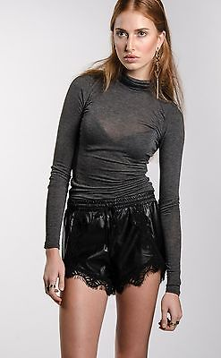 Weekender Lace Leather Shorts