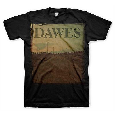 Dawes LONG ROAD Men's Black T-Shirt Rock Band Tee 100% Licensed & Official