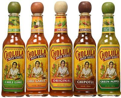 Cholula Hot Sauce Variety Pack, 5 Flavors (Pack of 5)