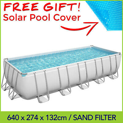 🎁 Bestway 22ft Above Ground Swimming Pool 6.71 x 3.66 x 1.32m / Sand Filter