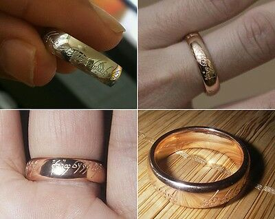 US Rose Gold New The Lord of the Rings The One Rings Magic TLOR Size US 7 3/4