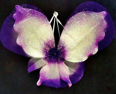 NEW Fairy Wings  Hand Made Crystal Purple