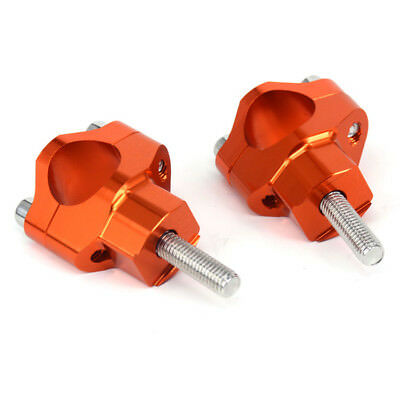 """1 1/8"""" Handlebar Risers Bar Mount Clamp For KTM 125-530 SX SXF EXC EXCF XCF XCW"""