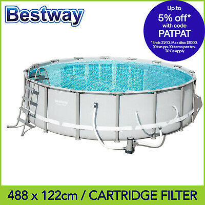 Bestway Above Swimming Ground Pool 488 x 122 cm with 1500gph Cartridge Filter