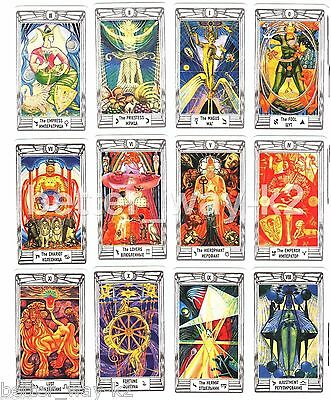 Aleister Crowley Thoth Tarot Deck English 79 Cards MINI Size Booklet Lo Scarabeo