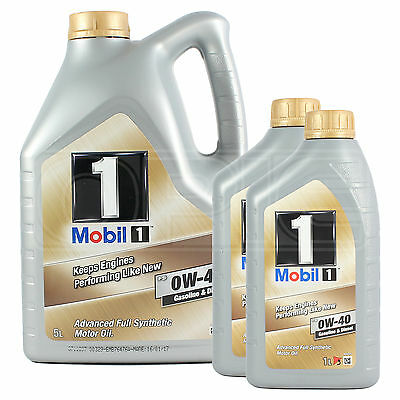 Mobil 1 0W-40 New Life Fully Synthetic Engine Oil 0W40 Mobil1 5 + 2x1L: 7 Litres