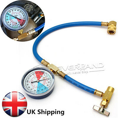 1PCS R134A Recharge Measuring Hose Gauge Adapter A/C Refrigerant Charging Pipe