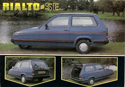 Reliant Rialto SE 1987-89 UK Market Leaflet Brochure Saloon Hatchback Estate Van