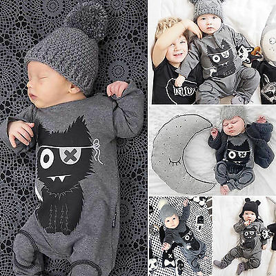 One-piece Clothes Baby Boys Girls Romper Bodysuit Jumpsuit Babygrow Outfits Set