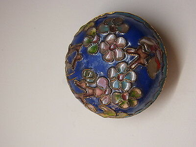 Alte Pillendose Schmuckdose Cloisonne Emaill Pillbox Box Dose Floral Schatulle 4