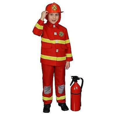 Dress up America Fire Fighter Costume Set (M Red)