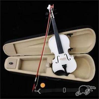 NEW VIOLIN ~FULL SIZE 4/4~W/ CASE & BOW White