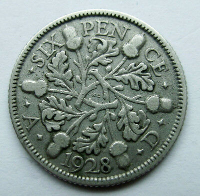 Great Britain.    6 Pence, 1928 - Silver